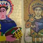 Arte per bambini: mosaico Bizantino e collage
