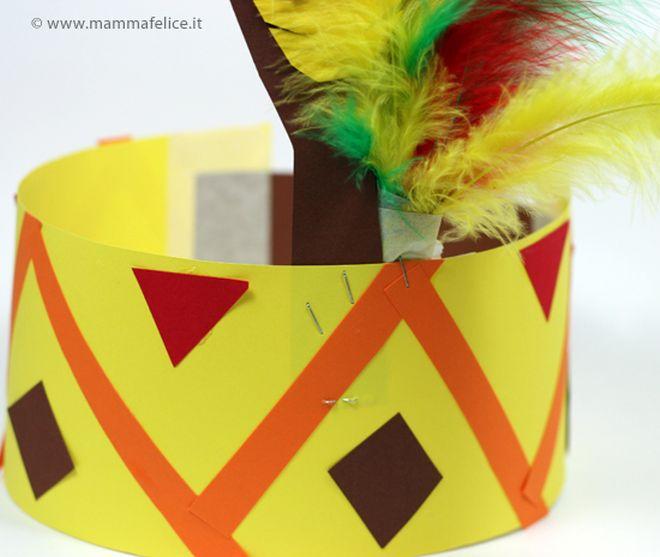 lavoretti-cartoncino-cappello-indiano