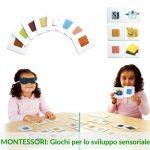 Giochi per lo sviluppo sensoriale in stile Montessori