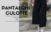 Come indossare i pantaloni culotte - o cropped pants