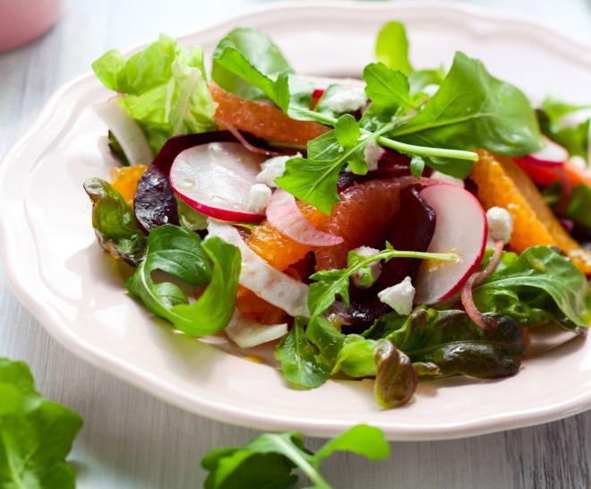 ricette-vegetariane-carpaccio-mango-finocchi-ravanelli