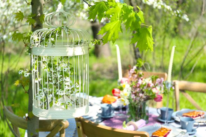 come organizzare un buffet in giardino all'aperto per tante persone