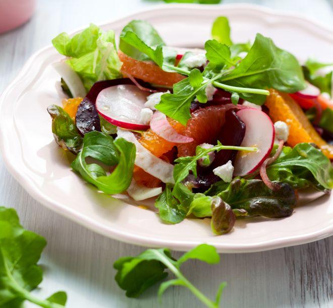 menu-cena-compleanno-marito-insalata-carpaccio-barbabietole-pompelmo