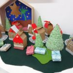 Calendario Avvento con le casette, nel villaggio di Babbo Natale