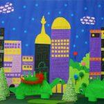 Creare con i bambini: dinosauri metropolitani con i piatti di carta