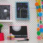 Come decorare la cameretta con quadretti e graffiti fai da te luccicanti