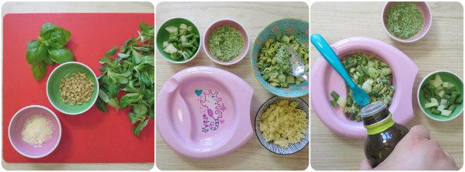 ricetta-autosvezzamento-pasta-pesto-fagiolini-patate