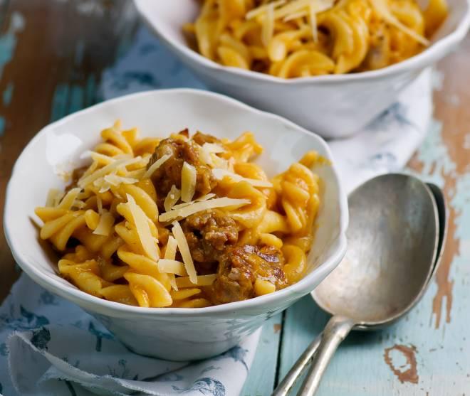 ricetta-pasta-zucca-e-salsiccia