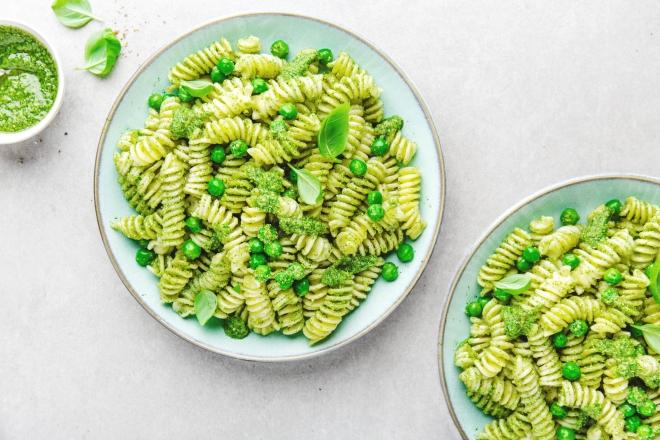 ricette vegetariane di primi piatti: piselli