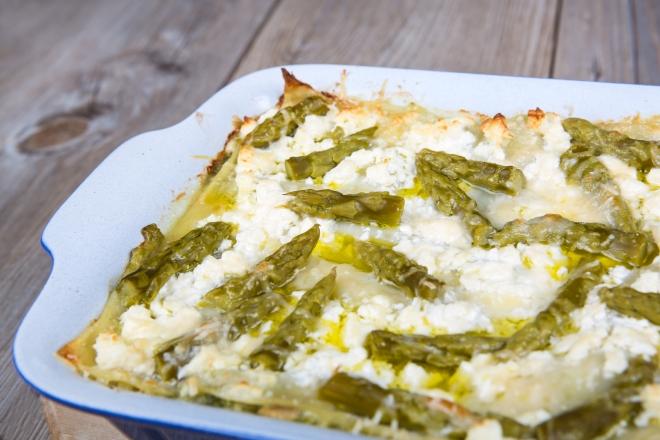 ricette vegetariane di primi piatti: lasagne ricotta e asparagi