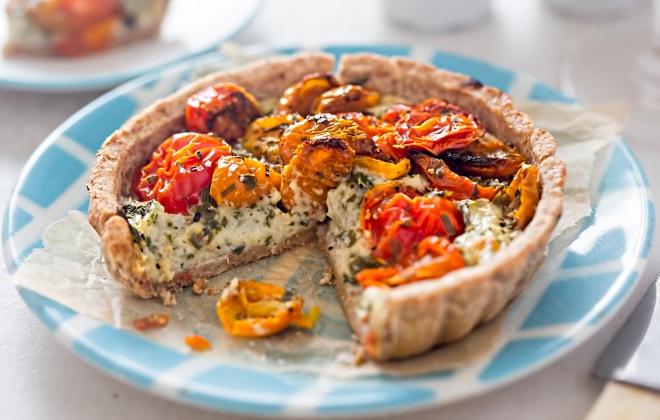 ricette-vegetariane-secondi-piatti_quiche-ricotta-pomodorini
