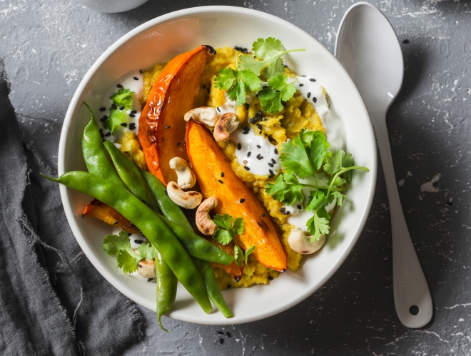 ricette-vegetariane-secondi-piatti_zucca-pure-carote-lenticchie-rosse